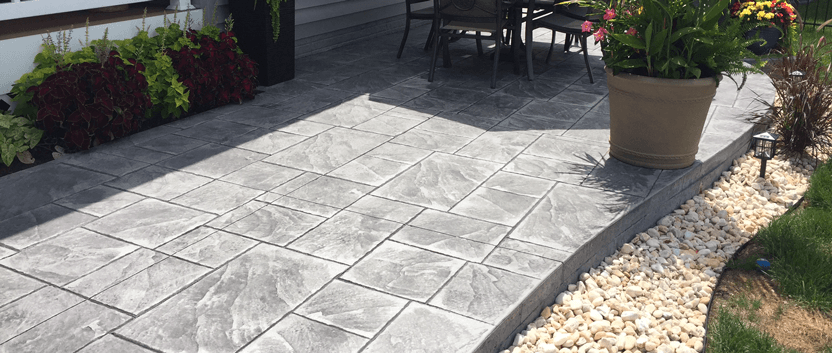 beton amprentat pe terasa