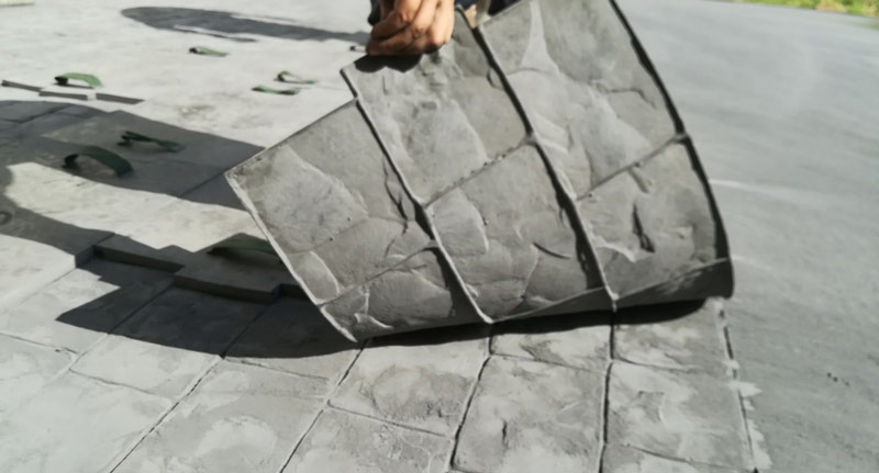 betonul colorat la suprafata si imprimat