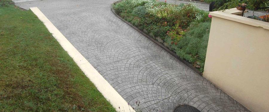 beton pentru aleile auto, intrare curte/garaj