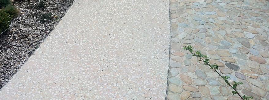 alee din beton slefuit