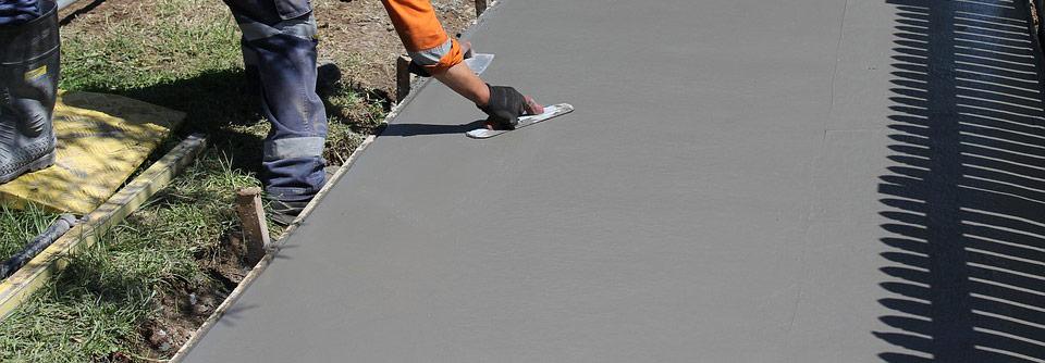 turnare beton simplu in alee