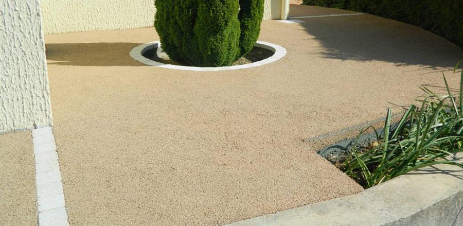 aplicare beton drenant (drenare apa pluviala)