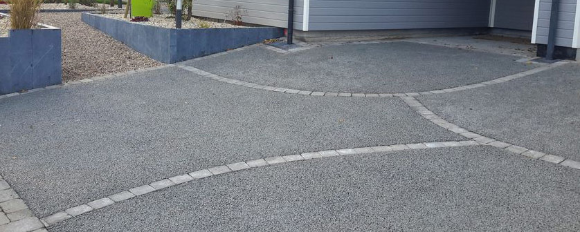 alee in beton poros