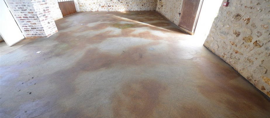 pardoseala din beton, acidata, nelacuita