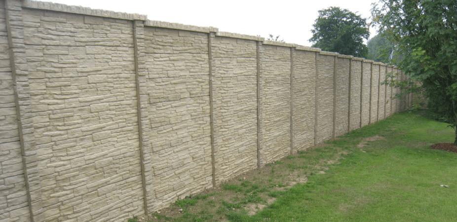 placi de gard prefabricate din beton